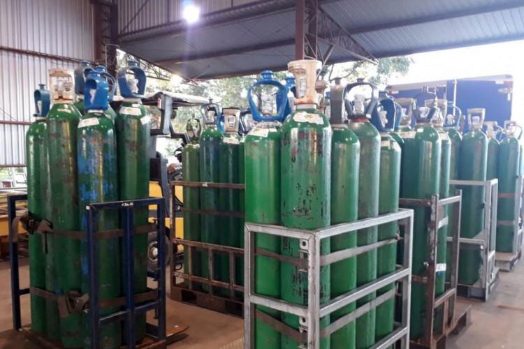 cilindros de oxigênio (Foto: Ministério da Saúde)