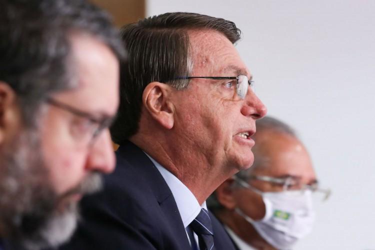 (Brasília - DF, 26/01/2021) Palavras do Presidente da República, Jair Bolsonaro..Foto: Marcos Corrêa/PR (Foto: Marcos Corrêa/PR)