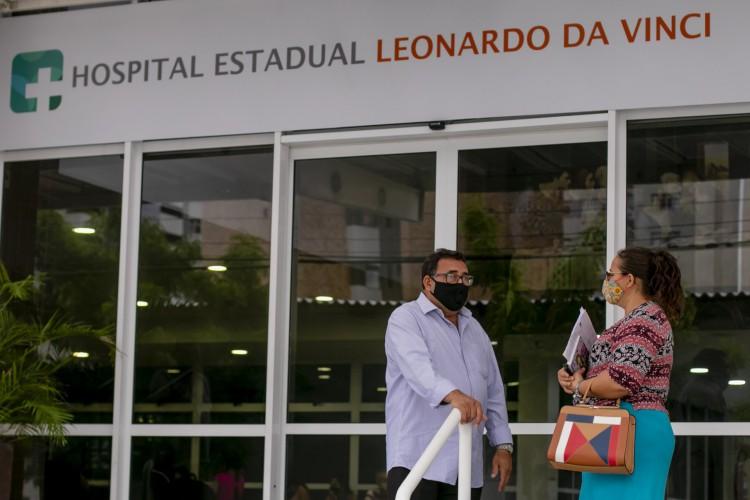 FORTALEZA, CE, BRASIL, 26.01.2021: Hospital Leonardo da Vinci, onde casos de COVID-19 são encaminhados. Em época de COVID-19. (Foto: Aurelio Alves/O POVO). (Foto: Aurelio Alves)