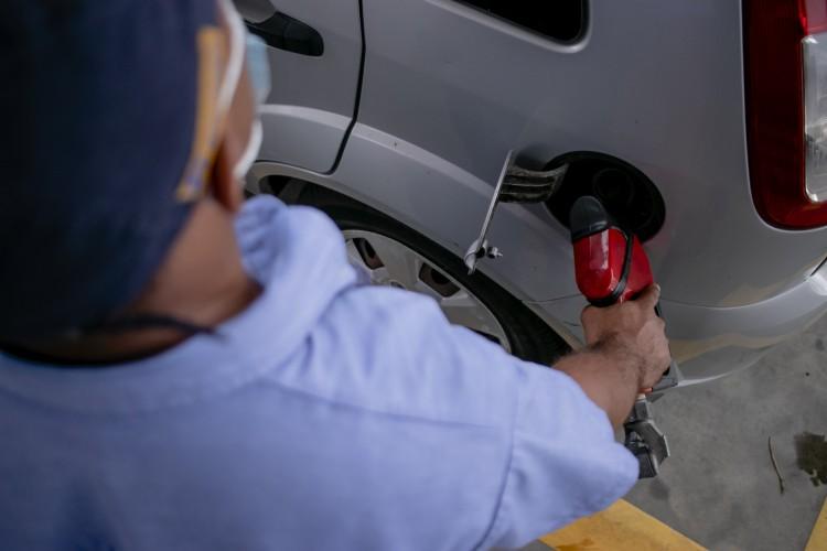 Aumento do preço da gasolina no Ceará faz litro do combustível chega a R$ 5,90 (Foto: Aurelio Alves)