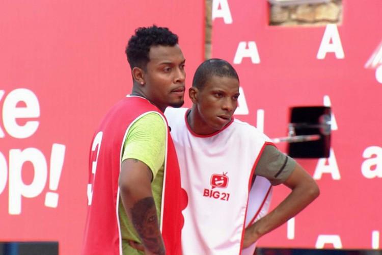 Nego Di e Lucas Penteado formaram a dupla vencedora (Foto: Reprodução Globo)