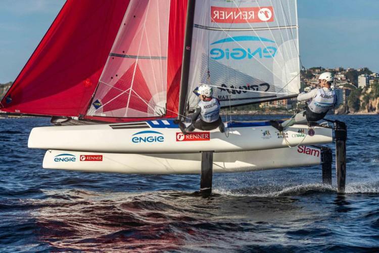 Vela: Samuel Albrecht e Gabriela Nicolino vencem evento nos EUA (Foto: Beto Noval)