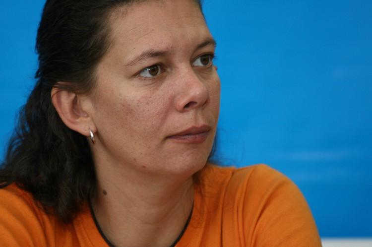 Ana Moser durante visita a Fortaleza em 2008