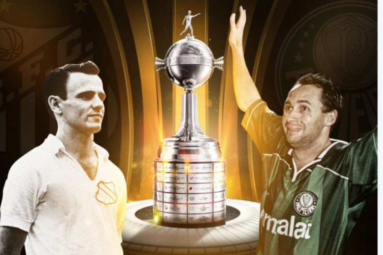 Pepe e Evair levarão a taça da Libertadores antes da final entre Santos e Palmeiras, no Maracanã (Foto: Reprodução)
