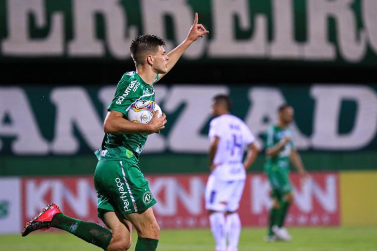 Chapecoense marca gol do título no último lance e conquista a Série B  (Foto: Márcio Cunha/ACF)