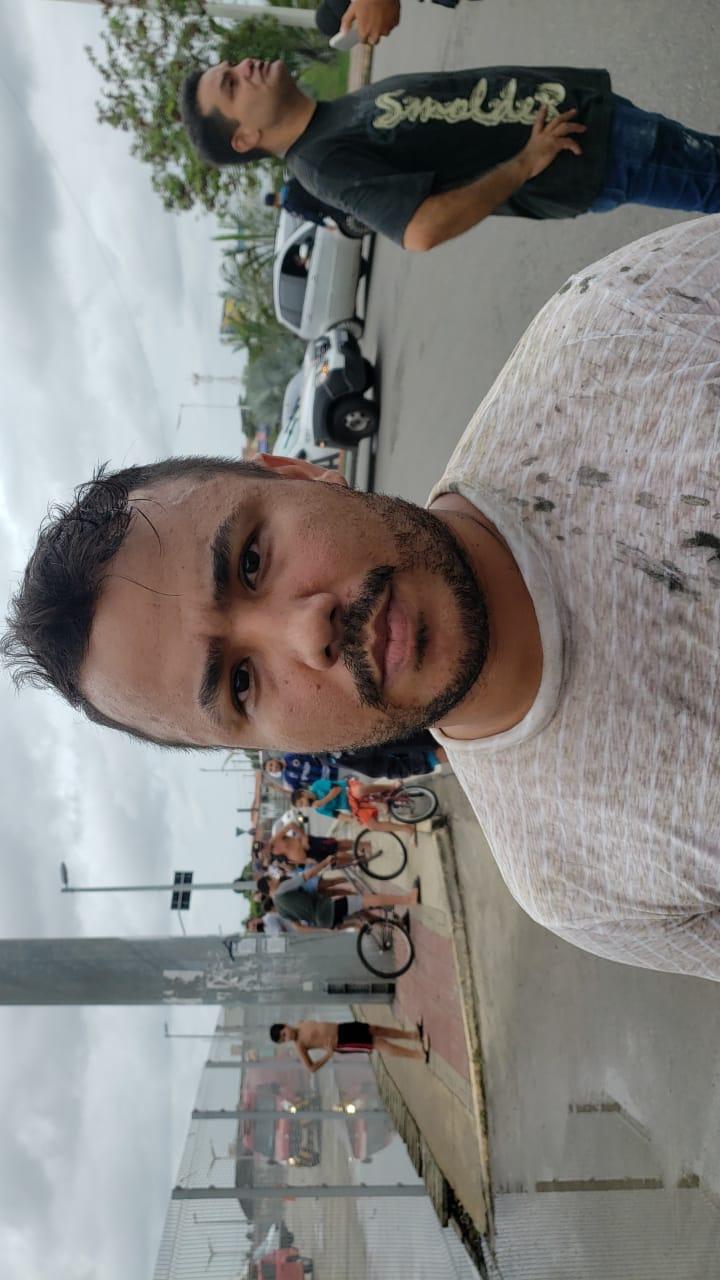 Júnior Lima, profissional da área da publicidade da Arena Castelão
