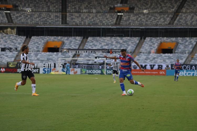 Fortaleza perdeu para o Atlético-MG e segue na zona de rebaixamento da Série A  (Foto: Leonardo Moreira/Fortaleza )