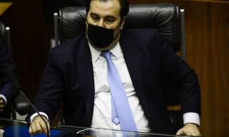O deputado Rodrigo Maia durante sessão para eleição dos membros da mesa diretora da Câmara dos Deputados.