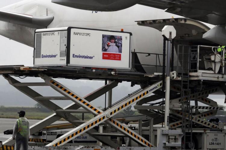 Carga com primeiras doses da CoronaVac chega ao Aeroporto Internacional de São Paulo.19/11/2020. REUTERS/Amanda Perobelli (Foto: REUTERS/Amanda Perobelli)