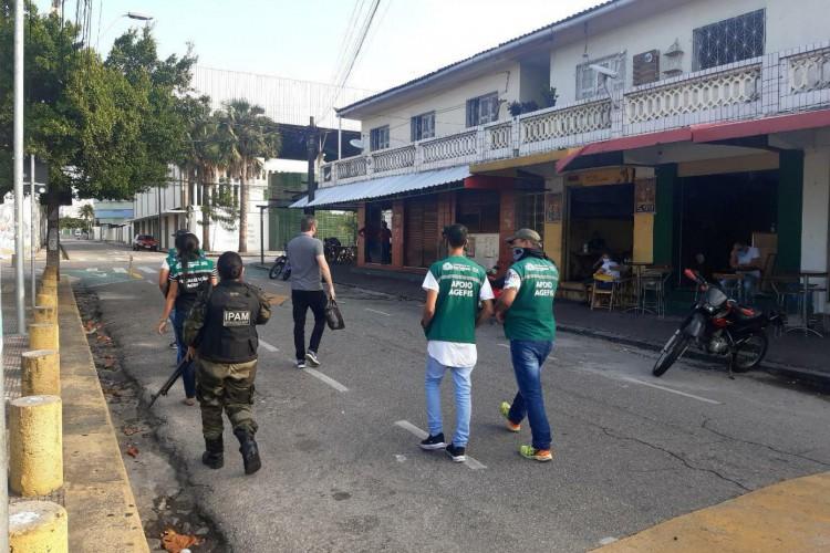 Fiscalizações realizadas em Fortaleza (Foto: Divulgação/Agefis)