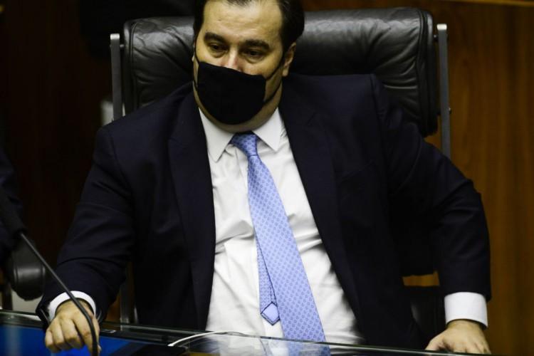 O deputado Rodrigo Maia durante sessão para eleição dos membros da mesa diretora da Câmara dos Deputados. (Foto: Marcelo Camargo/Agência Brasil)