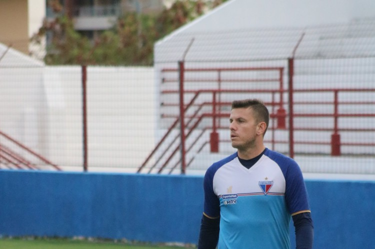 Goleiro Marcelo Boeck em treino do Fortaleza no Centro de Excelência Alcides Santos, no Pici (Foto: Bruno Oliveira/Fortaleza EC)