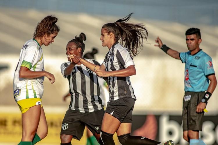 Ceará goleou Menina Olímpica por 9 a 0 no Franzé Morais.  (Foto: Stephan Eilert/CearaSC.com)
