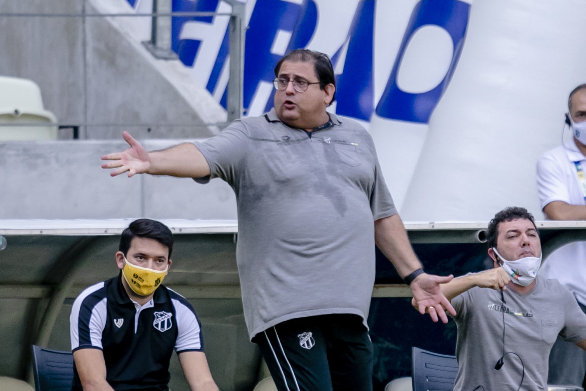 Guto Ferreira, técnico do Ceará, foi o convidado do quadro Areia Movediça, das Frias do Sérgio