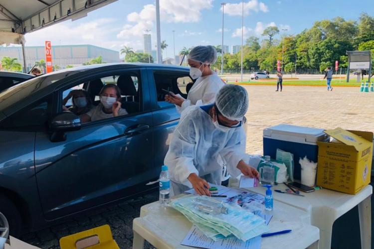 Projeção estima que 3 mil pessoas sejam vacinadas diariamente na Capital (Foto: Divulgação/Sesa)