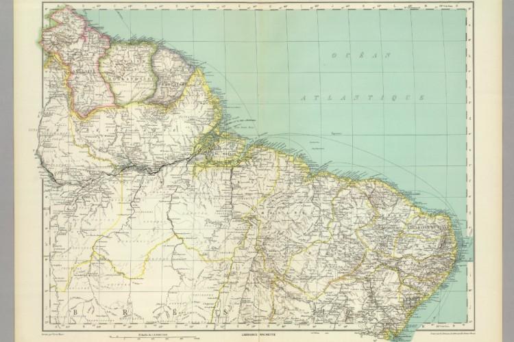 Mapa do Brasil feito por L. Vivien St Martin em 1930 (Foto: Foto: David Rumsey Historical Map Collection))
