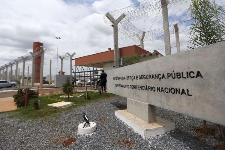 Penitenciária federal de segurança máxima de Brasília. (Foto: Marcelo Camargo/Agência Brasil)