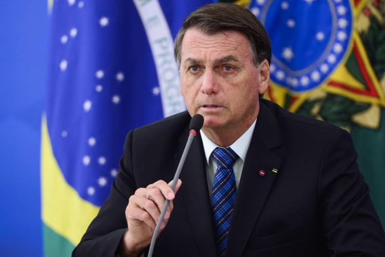 O presidente Jair Bolsonaro durante pronunciamento sobre preço dos combustíveis e a política de reajustes adotada pela Petrobras. (Foto: Marcelo Camargo/Agência Brasil)