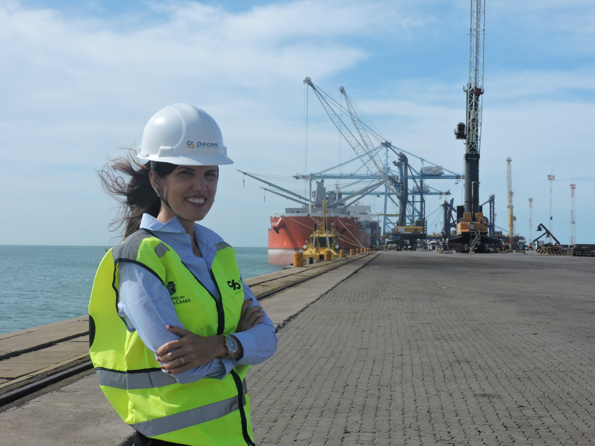 Duna Uribe, diretora Executiva do Complexo do Pecém (CIPP S/A)(Foto: Divulgação)