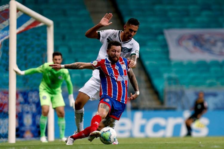 O empate por 3 a 3 entre Bahia e Goiás demostrou a fragilidade das duas piores defesas do campeonato (Foto: Felipe Oliveira/ EC Bahia)