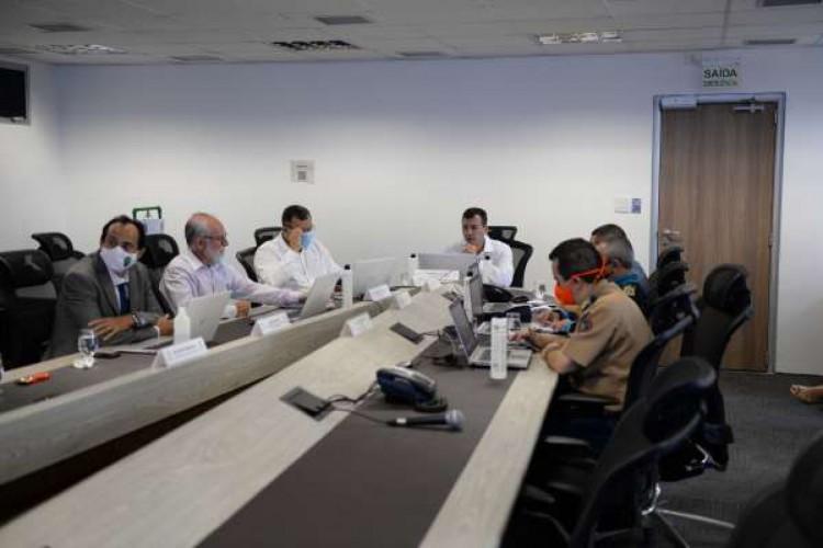 Reunião de cúpula da SSPDS para discutir estratégias de combate ao crime no Ceará (Foto: Divulgação / SSPDS)