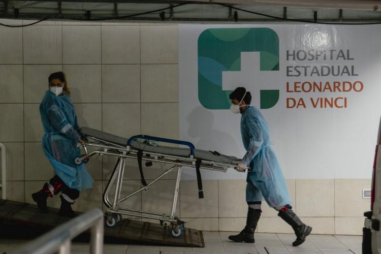 FORTALEZA, CE, BRASIL, 08.02.2021: Hospital Leonardo da Vinci. Movimentação nos Hospitais de Fortaleza com aumento numeros de COVID-19. Em época de COVID-19. (Foto: Aurelio Alves/O POVO). (Foto: Aurelio Alves)
