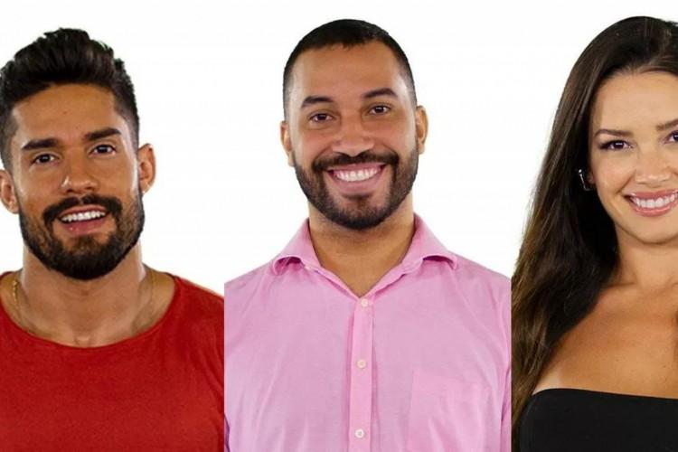 Votação vai até a noite da terça-feira, 9 de fevereiro; público deve escolher uma pessoa entre as três indicadas - Arcrebiano, Gilberto ou Juliette - para sair da casa na segunda semana (Foto: Reprodução/Gshow)
