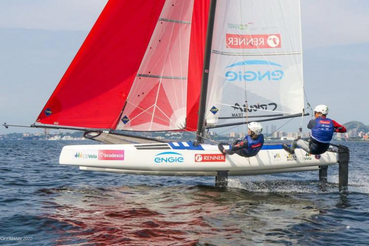 Vela: vinda de título nos EUA, dupla olímpica treina em Santa Catarina (Foto: FRED HOFFMANN)