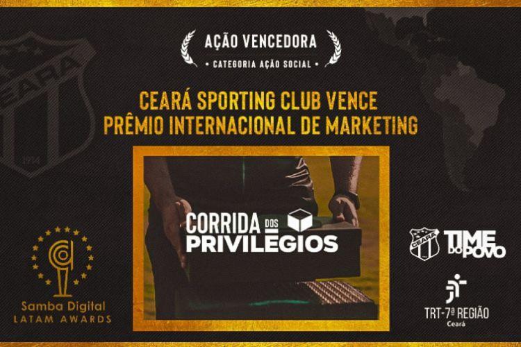 Ceará conquista prêmio Samba Digital Awards 2020 (Foto: DIVULGAÇÃO)