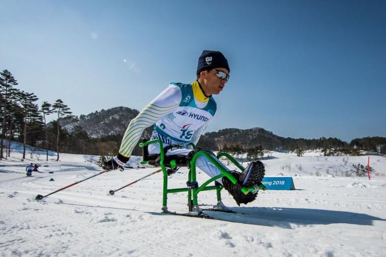 Brasileiro vira top 3 mundial no esqui cross-country paralímpico (Foto: )