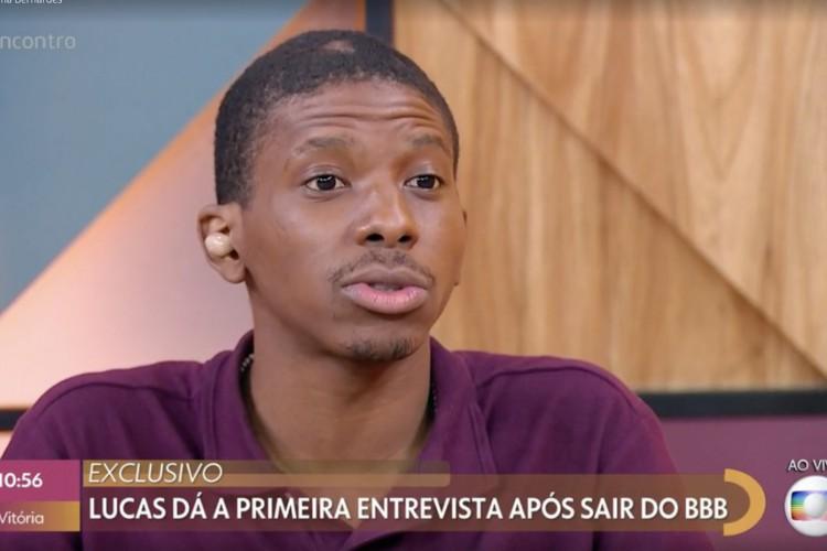 Lucas esteve no programa nesta terça-feira, 9 (Foto: Reprodução Globo)