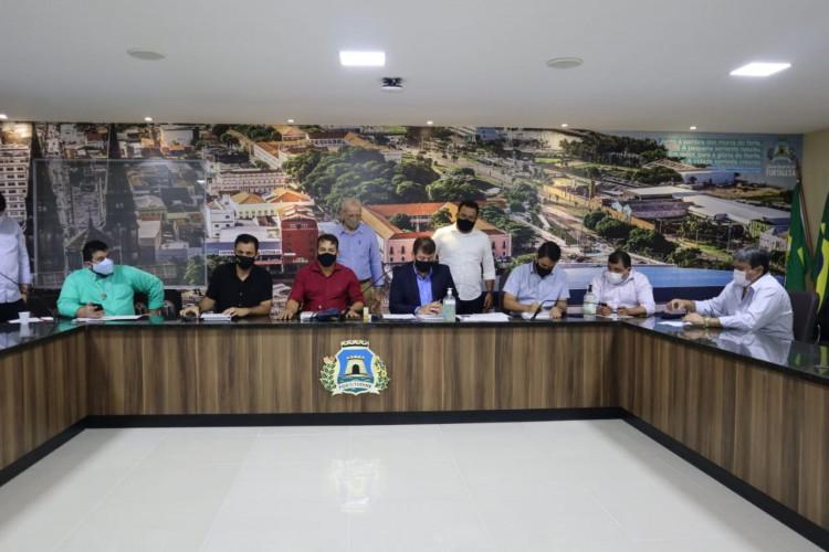 CCJ da Câmara Municipal de Fortaleza se reúne pela primeira vez em 2021 (Foto: Reprodução/CMFor)