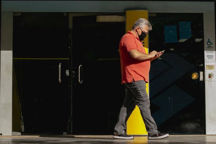 Sindicato dos Bancários afirma que, pelo menos 13 casos de Covid-19, foram registrados em bancos públicos da Grande Fortaleza na última semana (Foto: Aurelio Alves/O POVO) (Foto: Aurelio Alves)