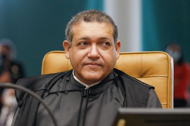 Ministro Nunes Marques durante sessão solene de posse no STF. (Foto: Fellipe Sampaio/SCO/STF)