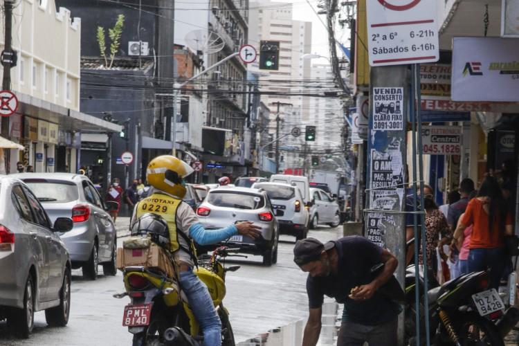 Centro da cidade de Fortaleza (Foto: Thais Mesquita)