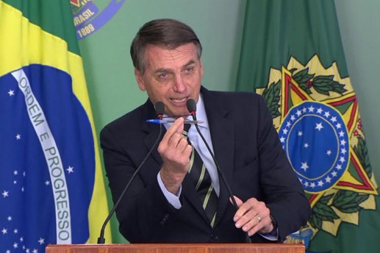 Bolsonaro reclama de restrições do Facebook e sugere que imprensa cria fake news (Foto: AGÊNCIA BRASIL)