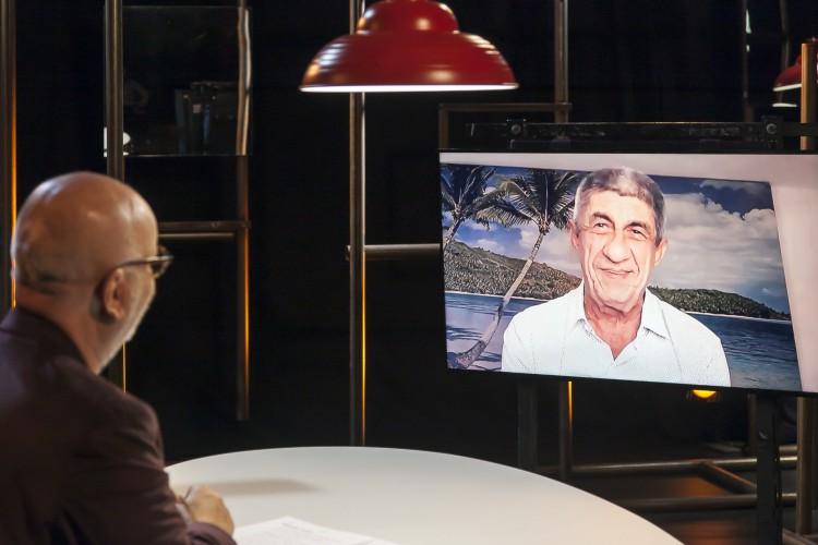 Fagner conversa com Marcelo Tas no #Provoca, programa da TV Cultura (Foto: Nathalie Bohm)