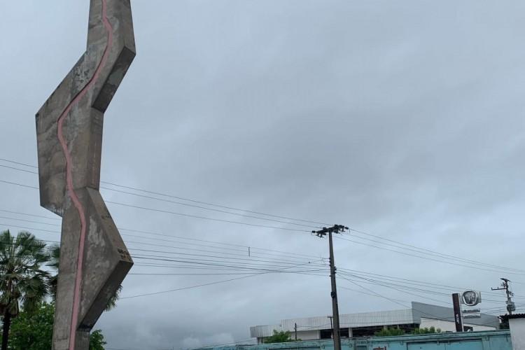 Com maior chuva do ano do Ceará, Crateús amanhece com nebulosidade   (Foto: WhatsApp / OPOVO)