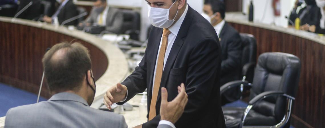 FORTALEZA, CE, 17-02-2021: Sessao no Plenario da Camara Municipal de Fortaleza. Luciano Cavalcante, Fortaleza. (BARBARA MOIRA/ O POVO) (Foto: Barbara Moira)