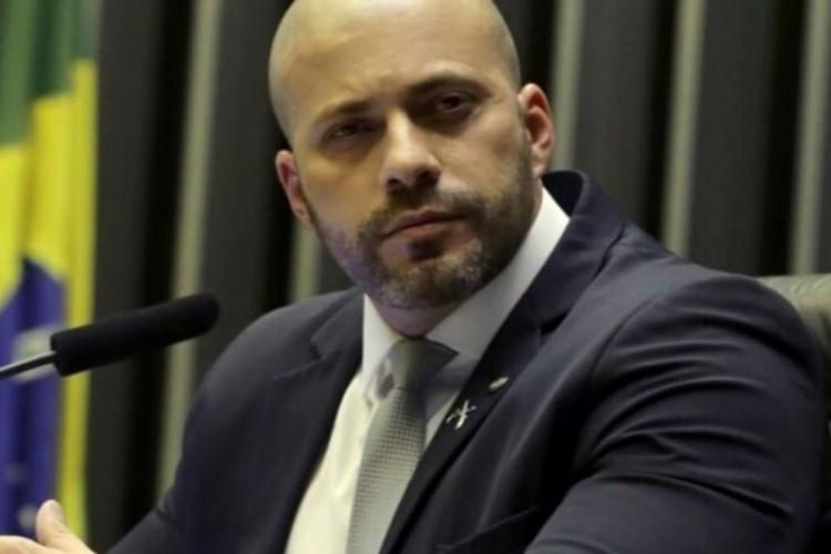 O deputado federal Daniel Silveira, preso em flagrante por ordem do STF  (Foto: Agência Brasil)