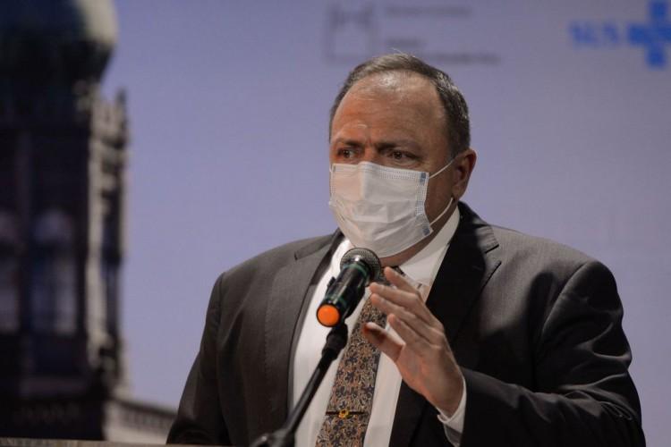 O ministro da Saúde, Eduardo Pazuello durante cerimônia de divulgação do edital de licitação do Complexo Industrial de Biotecnologia em Saúde-CIBS, na Fiocruz. (Foto: Tomaz Silva/Agência Brasil; /Agência Brasil)