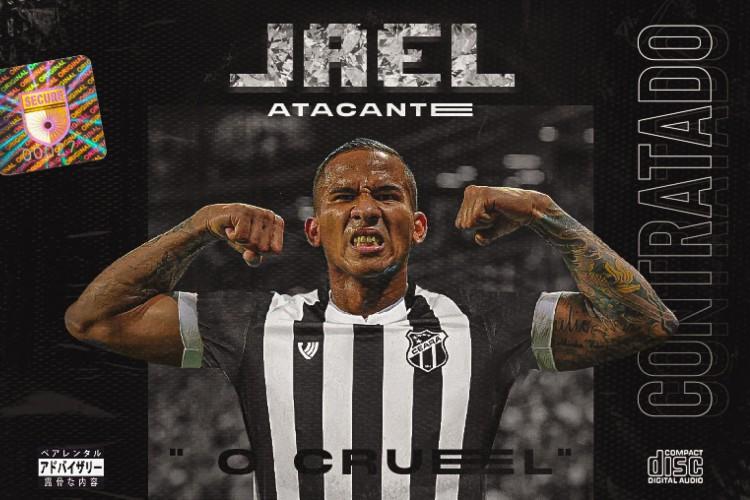 Arte de anúncio do atacante Jael, novo contratado do Ceará (Foto: Divulgação/cearasc)