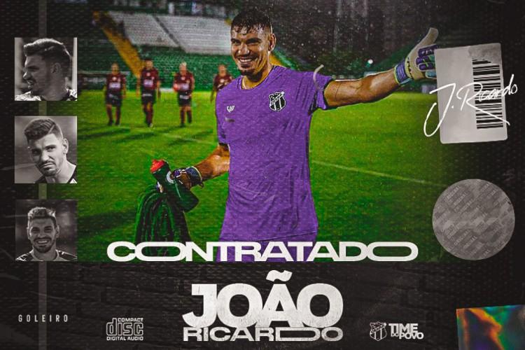 Montagem do goleiro João Ricardo, novo reforço do Ceará (Foto: Divulgação/cearasc.com)