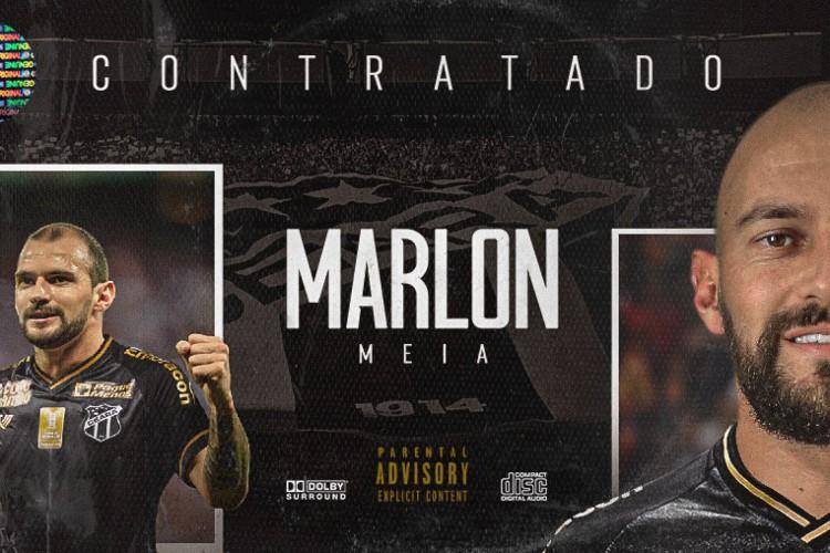 Marlon foi anunciado oficialmente pelo Ceará (Foto: Divulgação/ cearasc.com)