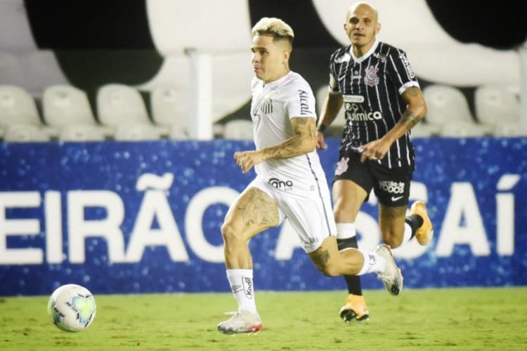 Jogo entre Santos e Corinthians foi atrasado, da 33ª rodada  (Foto: Santos/Reprodução/Twitter)