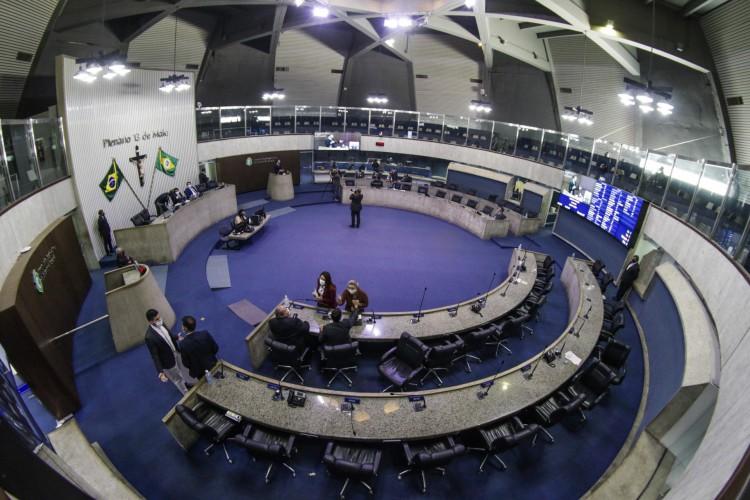 Plenário da Assembleia Legislativa do Ceará (Foto: Thais Mesquita/OPOVO) (Foto: Thais Mesquita)