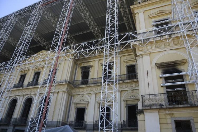 Museu Nacional da UFRJ, na Quinta da Boa Vista, um ano após o incêndio. (Fernando Frazão/Agência Brasil) (Foto: Fernando Frazão/Agência Brasil)