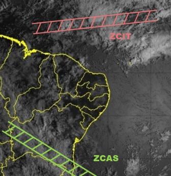 Imagem de satélite (GOES-16) da Fundação Cearense de Meteorologia e Recursos Hídricos (Funceme)