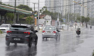 FORTALEZA, CE, BRASIL, 20.02.2021: Chuva forte nesse sabado. (Foto: Thais Mesquita/O POVO)