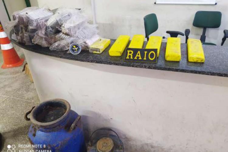 Droga foi encontrada após denúncia de moradores do local (Foto: Divulgação/SSPDS)